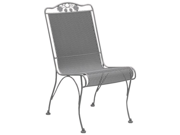 Woodard Briarwood Wrought Iron High Back Dining Side Chair