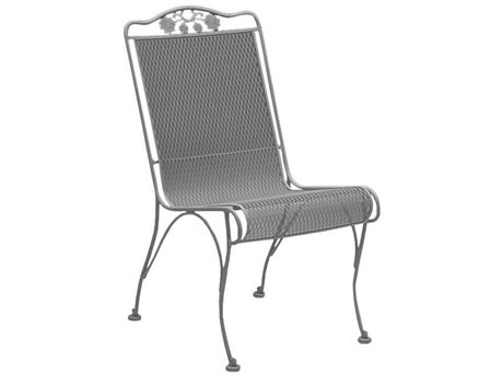 Woodard Briarwood Wrought Iron High Back Dining Side Chair with Cushion