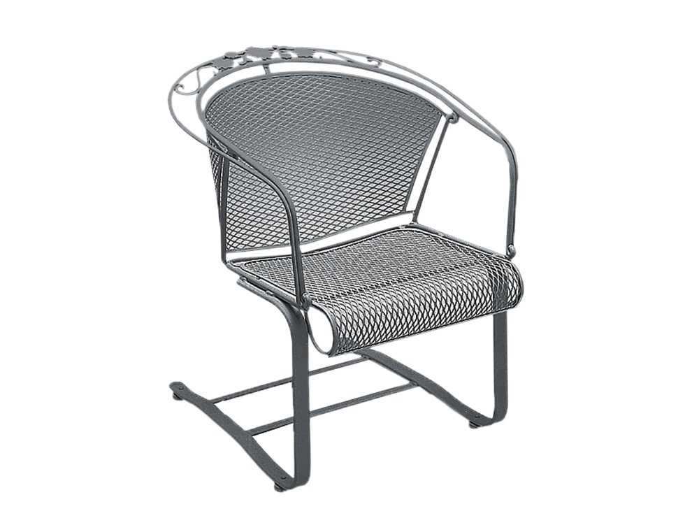 Wrought Iron Barrel Chair Outdoor Cushions: Woodard Briarwood Spring Barrel Chair Replacement Cushions