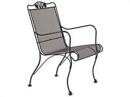 Woodard Briarwood Wrought Iron High Back Lounge Chair