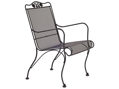 Woodard Briarwood Wrought Iron High Back Lounge Chair with Cushion