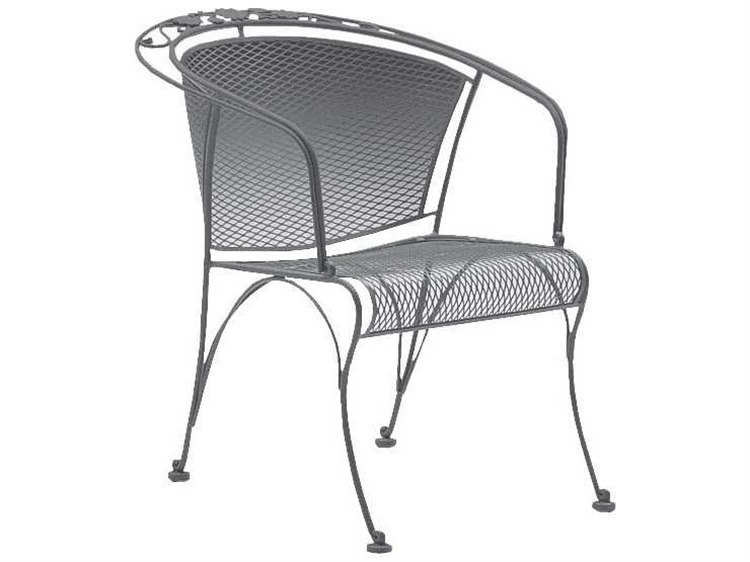 Woodard Briarwood Barrel Dining Chair Seat Replacement Cushions PatioLiving