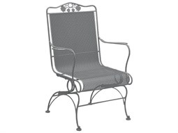 Briarwood Wrought Iron High Back Coil Spring Chair w/ Seat Cushion