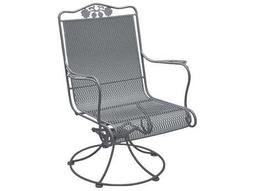 Briarwood Wrought Iron High Back Swivel Rocker