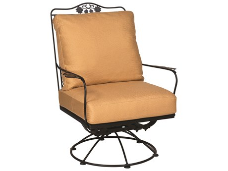 Woodard Briarwood Wrought Iron Swivel Rocker Lounge Chair