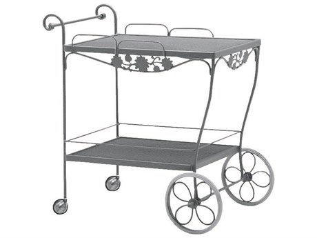 Woodard Briarwood Wrought Iron Mesh Top Serving Cart