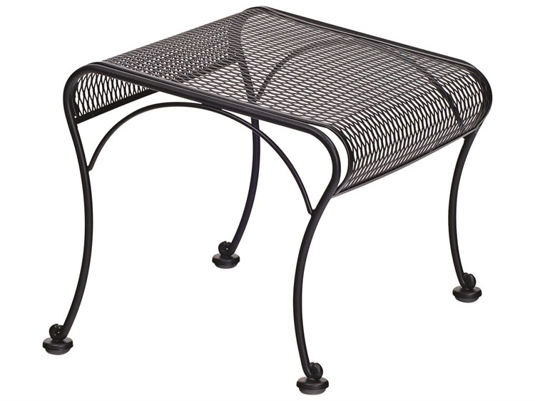 Woodard Briarwood Wrought Iron Ottoman PatioLiving