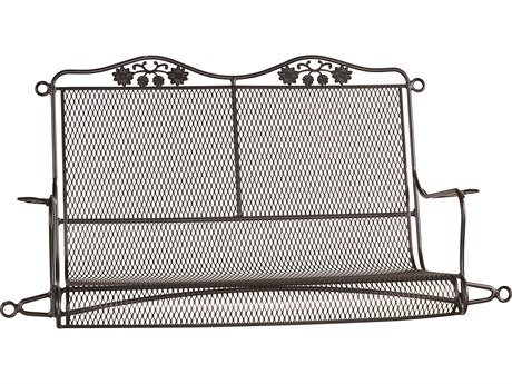 Woodard Briarwood Wrought Iron Swing w/ Seat Cushion