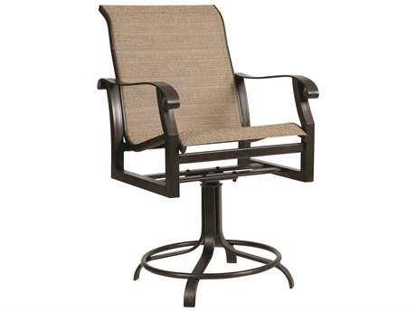 Woodard Cortland Sling Aluminum Swivel Counter Stool WR420469