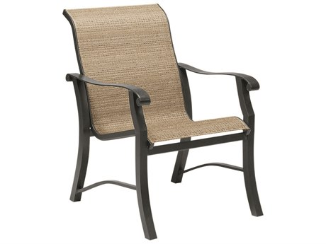 Woodard Cortland Sling Aluminum Dining Arm Chair