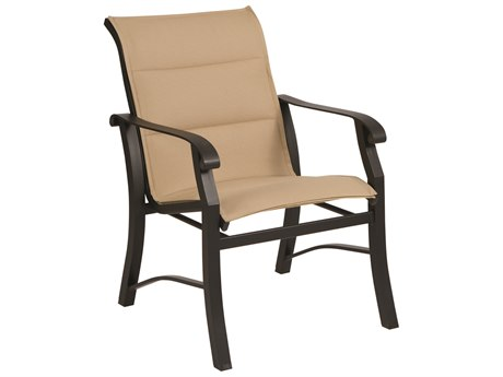 Woodard Cortland Padded Sling Aluminum Dining Arm Chair