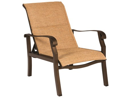 Woodard Cortland Padded Sling Aluminum Adjustable Lounge Chair