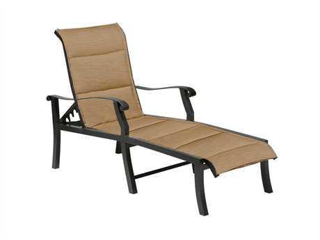 Woodard Cortland Padded Sling Aluminum Adjustable Chaise Lounge