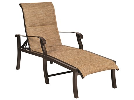 Woodard Cortland Padded Sling Aluminum Adjustable Chaise Lounge