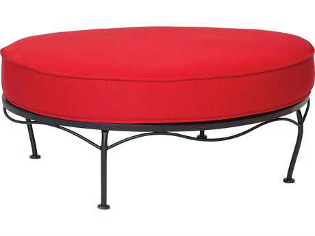 Woodard Terrace Cushion Wrought Iron  Oval Ottoman