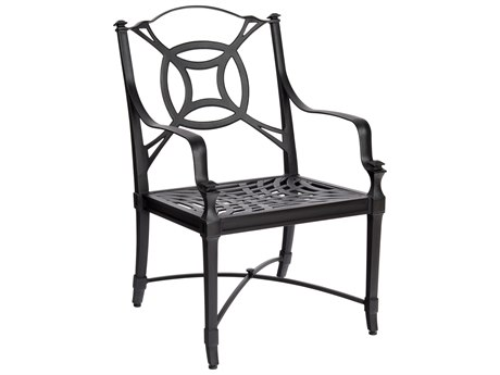 Woodard Isla Aluminum Dining Arm Chair w/ Seat Cushion