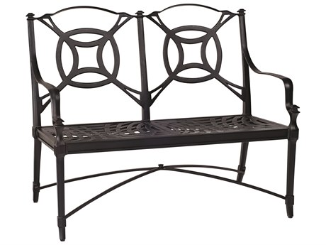 Woodard Isla Cast Aluminum Cushion Bench