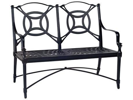 Woodard Isla Cast Aluminum Cushion Bench