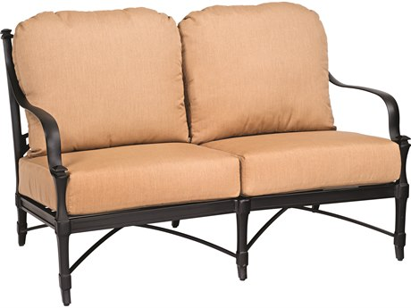 Woodard Isla Cast Aluminum Cushion Loveseat
