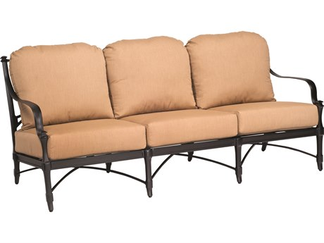 Woodard Isla Cast Aluminum Cushion Sofa PatioLiving