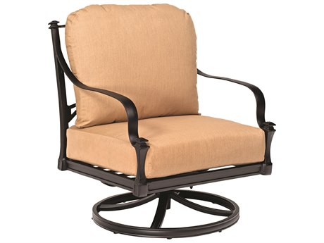 Woodard Isla Cushion Aluminum Swivel Rocker Lounge Chair PatioLiving