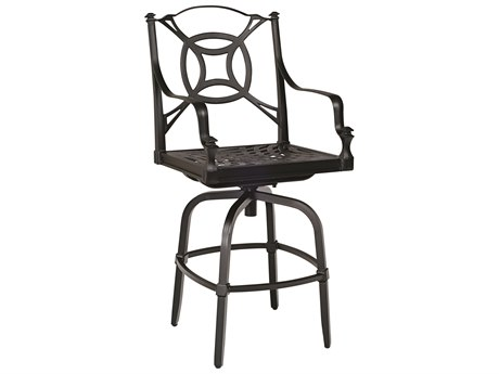 Woodard Isla Cast Aluminum Swivel Bar Stool