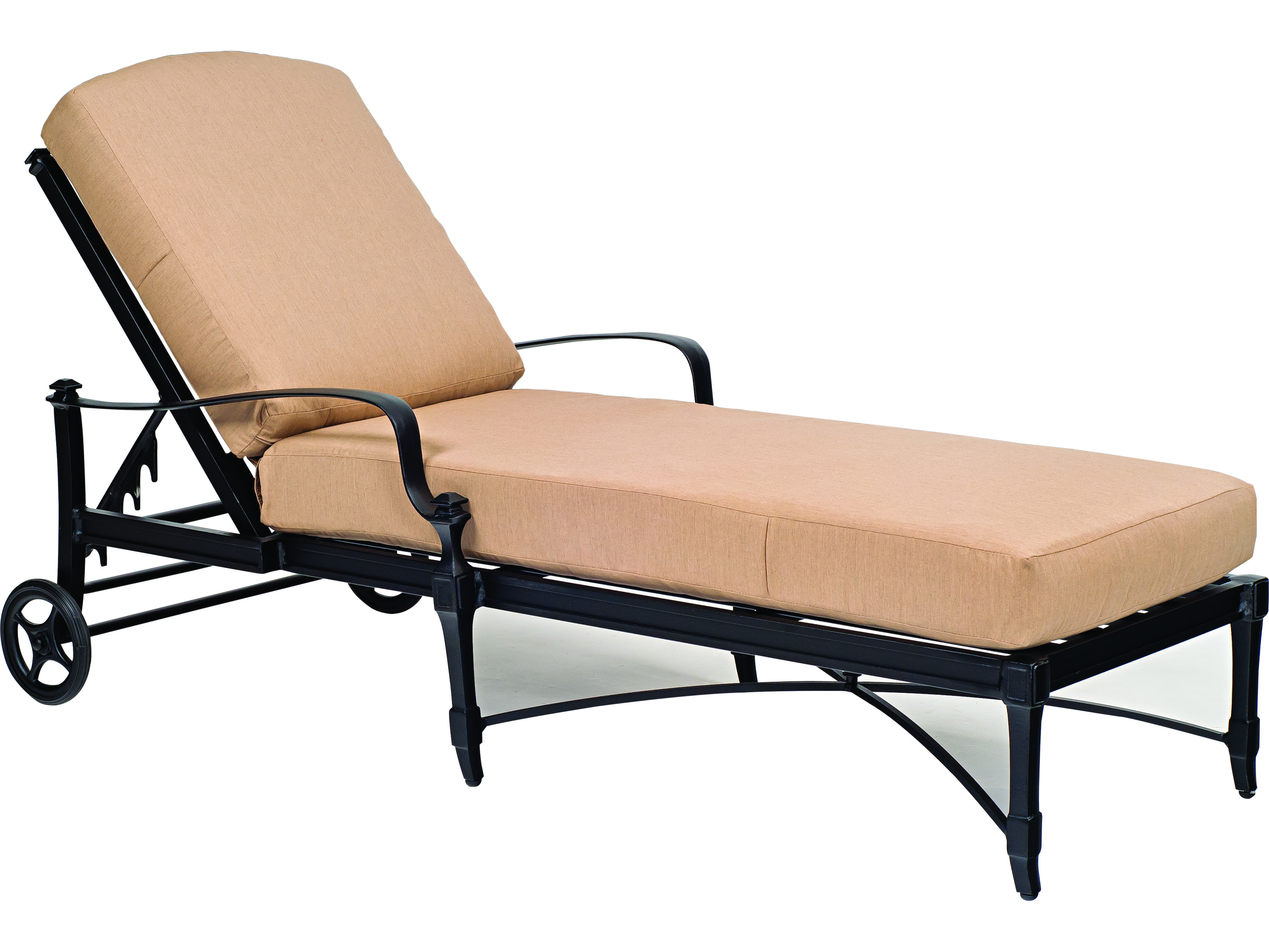 Woodard Isla Cast Aluminum Chaise Lounge
