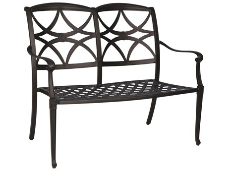 Woodard Wiltshire Cast Aluminum Bench PatioLiving