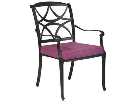 Woodard Wiltshire Aluminum Dining Arm Chair w/ Seat Cushion