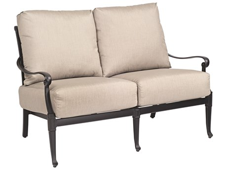 Woodard Wiltshire Cast Aluminum Loveseat