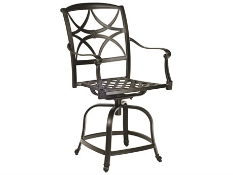 Woodard Wiltshire Cast Aluminum Swivel Counter Stool WR4Q0469