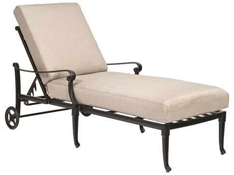Woodard Wiltshire Cast Aluminum Adjustable Chaise Lounge PatioLiving