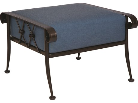 Woodard Derby Wrought Iron Cushion Ottoman