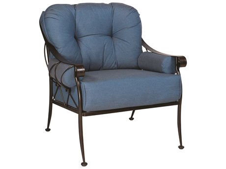 Woodard Derby Cushion Wrought Iron Lounge Chair