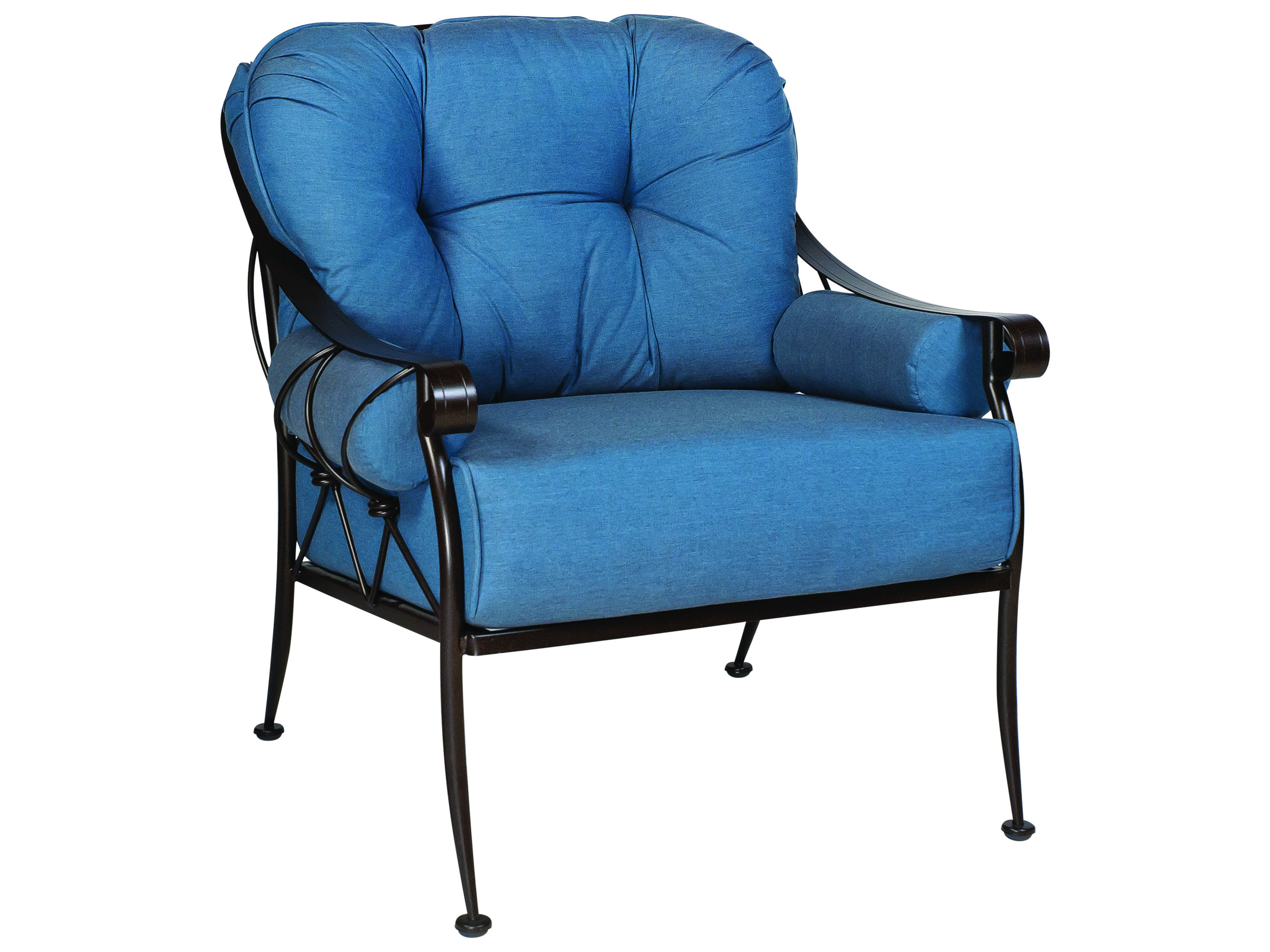 wrought iron chairs woodard derby wrought iron cushion lounge chair 4t0106 31263
