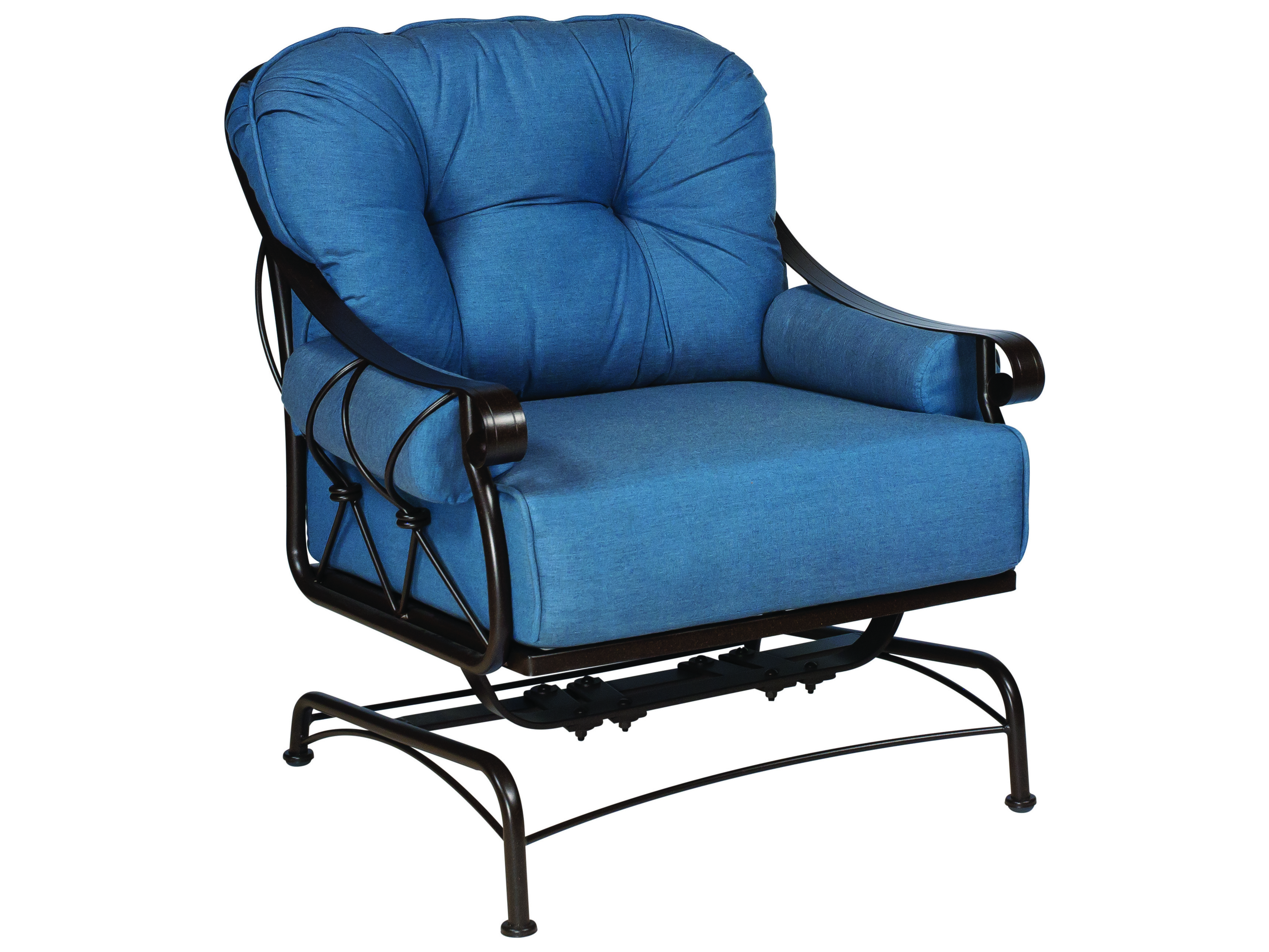 Woodard Derby Wrought Iron Spring Lounge Chair with