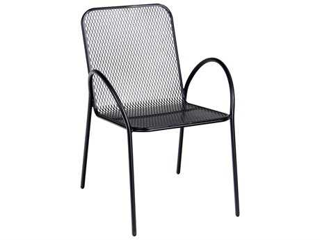 Woodard Avalon Wrought Iron Stackable Dining Arm Chair