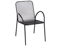 Avalon Wrought Iron Stackable Dining Arm Chair