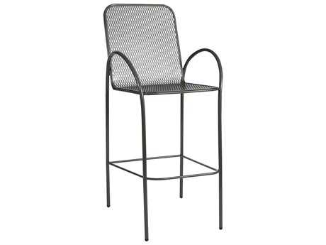 Woodard Avalon Wrought Iron Bar Stool