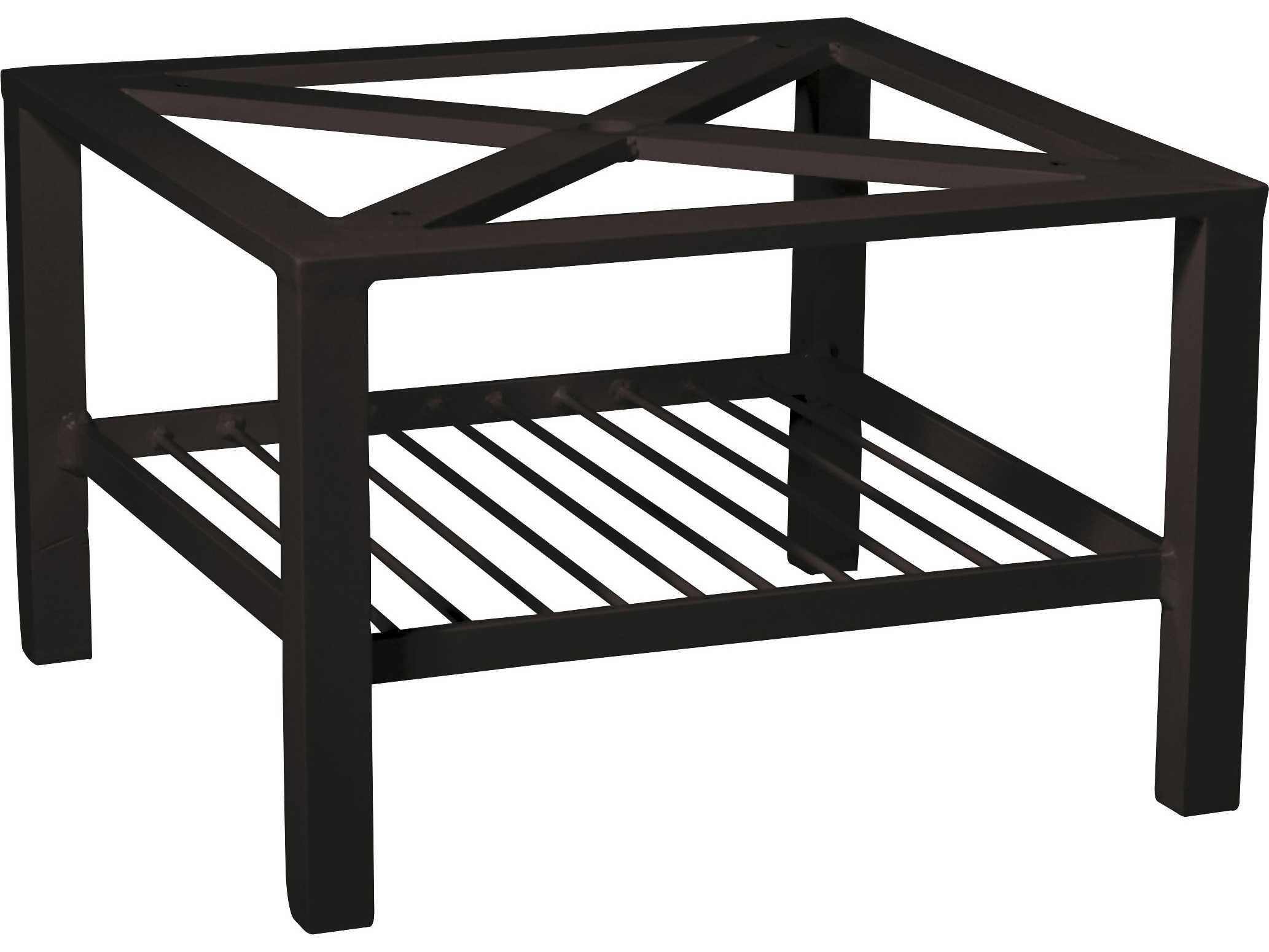 Woodard elite aluminum coffee table base only wr4v4300 for Coffee table base only