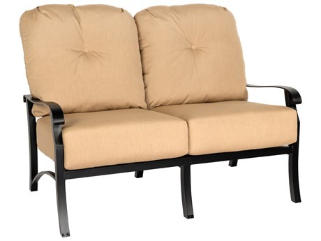 Woodard Cortland Cushion Aluminum Loveseat PatioLiving