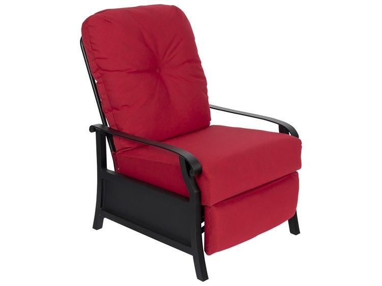 Woodard Cortland Cushion Aluminum Recliner Lounge Chair PatioLiving