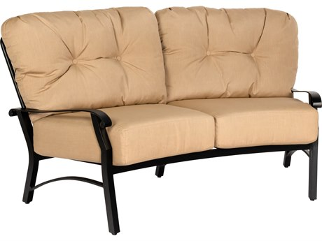 Woodard Cortland Cushion Aluminum Crescent Loveseat PatioLiving