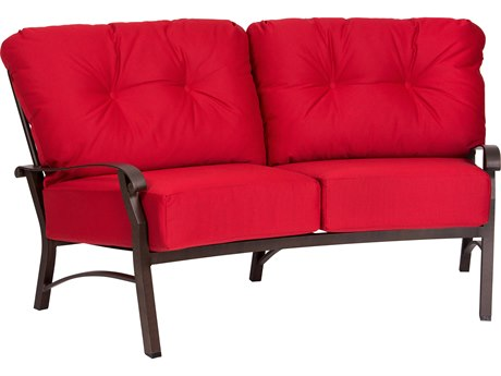 Woodard Cortland Crescent Loveseat Replacement Cushions PatioLiving
