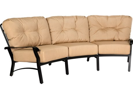 Woodard Cortland Cushion Aluminum Crescent Curved Sofa