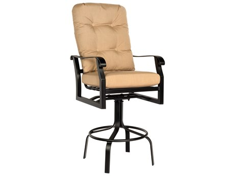Woodard Cortland Cushion Aluminum Swivel Bar Stool