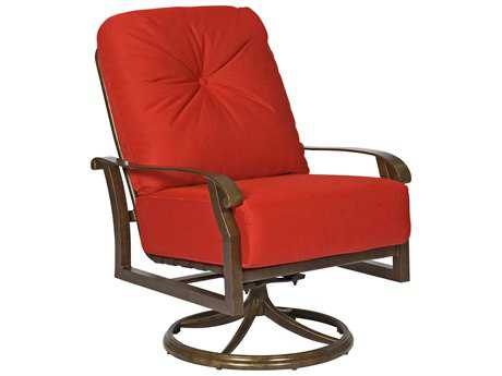 Woodard Cortland Cushion Aluminum Swivel Rocking Lounge Chair