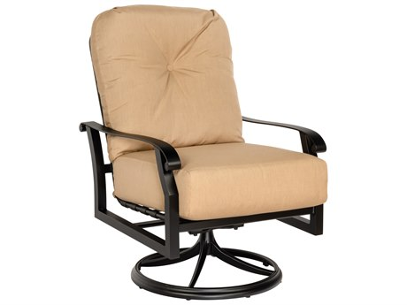 Woodard Cortland Cushion Aluminum Swivel Rocker Lounge Chair