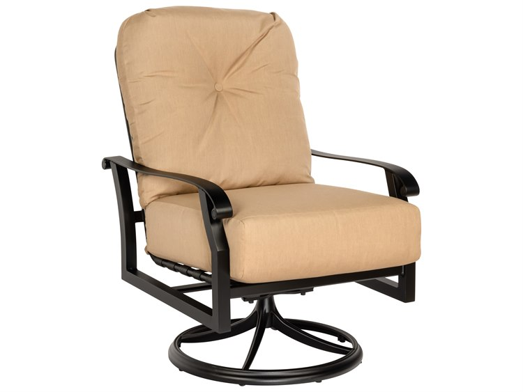 Woodard Cortland Cushion Aluminum Swivel Rocker Lounge Chair PatioLiving