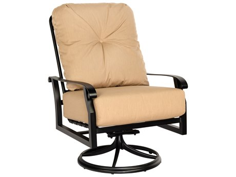 Woodard Cortland Cushion Aluminum Big Man's Swivel Rocker Lounge Chair